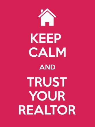 Fushia Keep Calm Trust your realtor