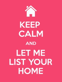 Pink Keep Calm sell your home